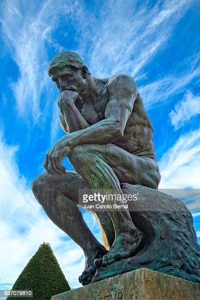 The Thinker (French: Le Penseur) at the Rodin's museum in Paris, France