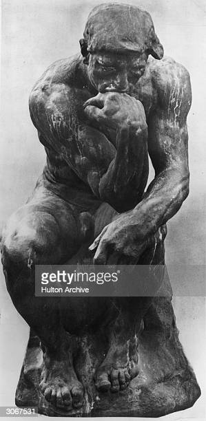 'The Thinker' by the French sculptor Auguste Rene Rodin