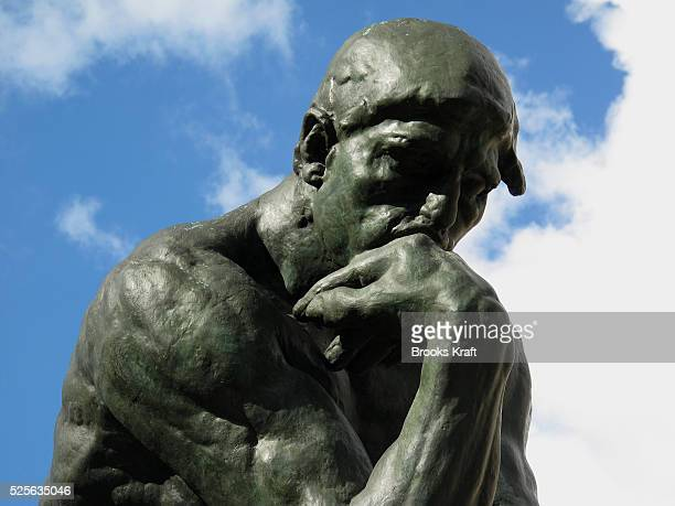 The Thinker is a bronze and marble sculpture by Auguste Rodin held in the Musee Rodin in Paris It depicts a man in sober meditation battling with a...