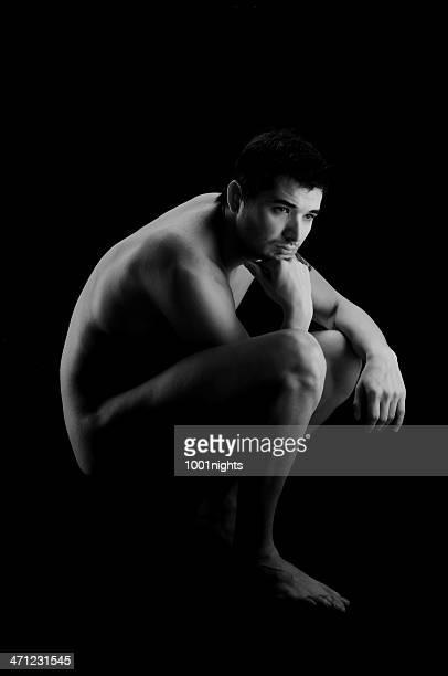 el pensador, auguste rodin - chicos desnudos fotografías e imágenes de stock