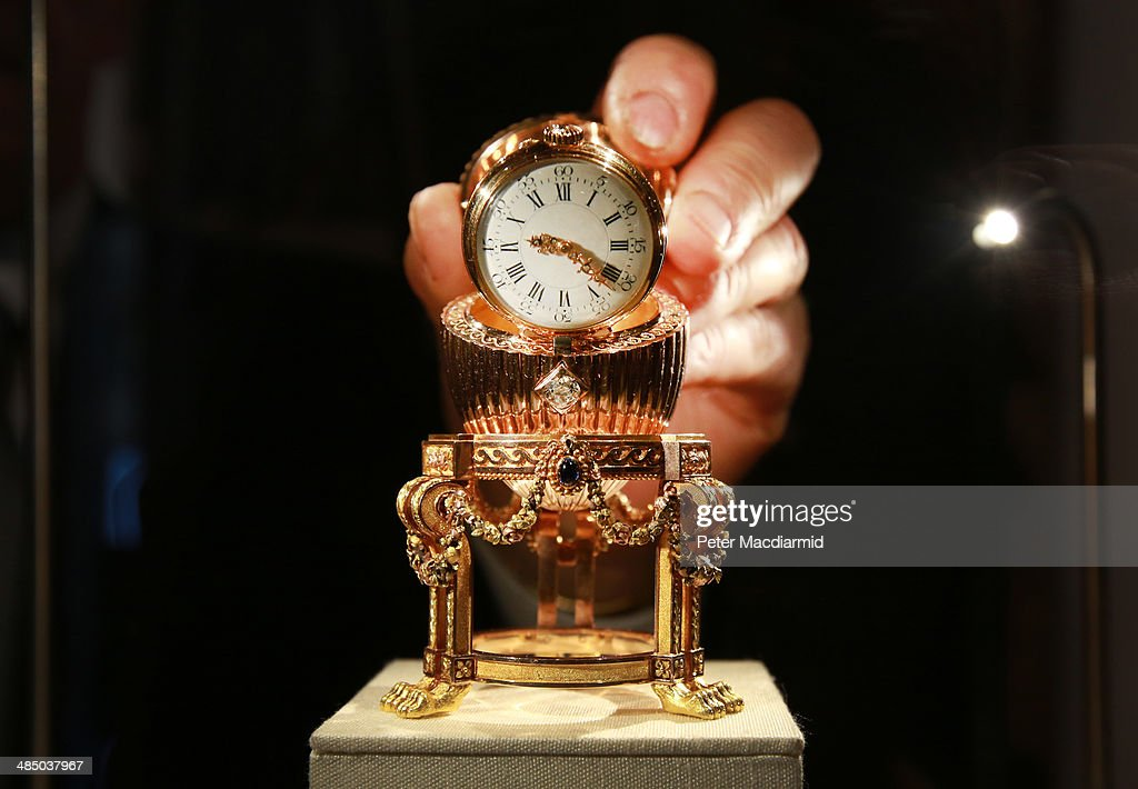 Carl Faberge's Lost Third Imperial Easter Egg Goes On Display : News Photo
