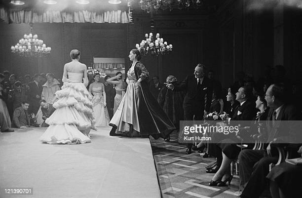 The Third Italian High Fashion Show in Florence Italy 1952 Original Publication Picture Post 5685 Paris has a Rival pub 1st March 1952