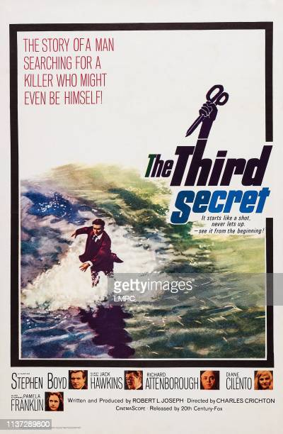 The Third Secret poster US poster art bottom from left Pamela Franklin Stephen Boyd Jack Hawkins Richard Attenborough Diane Cilento 1964