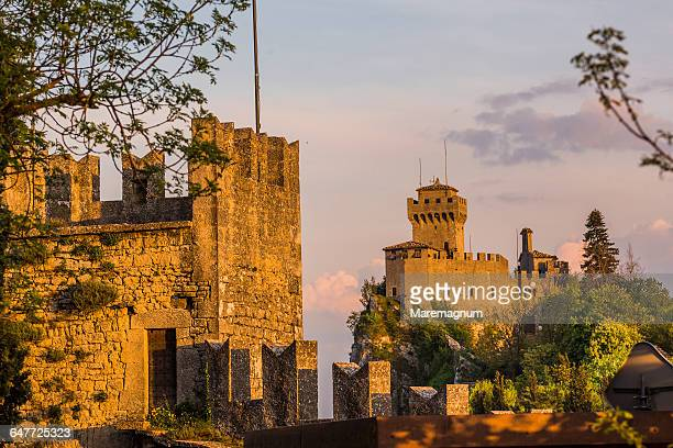 the third torre (tower) called il montale - republic of san marino stock photos and pictures