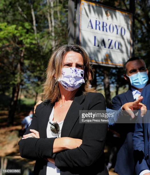 The third Vice President and Minister for Ecological Transition, Teresa Ribera, during a visit to the areas affected by the rainstorm in early...