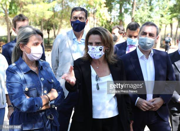 The third vice president and Minister for Ecological Transition, Teresa Ribera , with the mayor of Toledo, Milagros Tolon , during a visit to the...