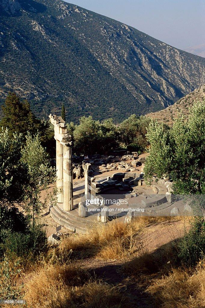 The Tholos, Delphi, UNESCO World Heritage Site, Greece, Europe : Foto de stock