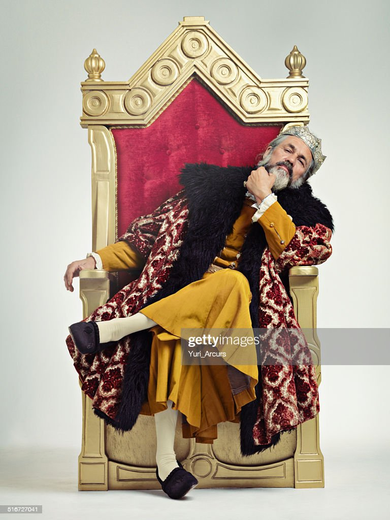 The thoughtful king : Stock Photo