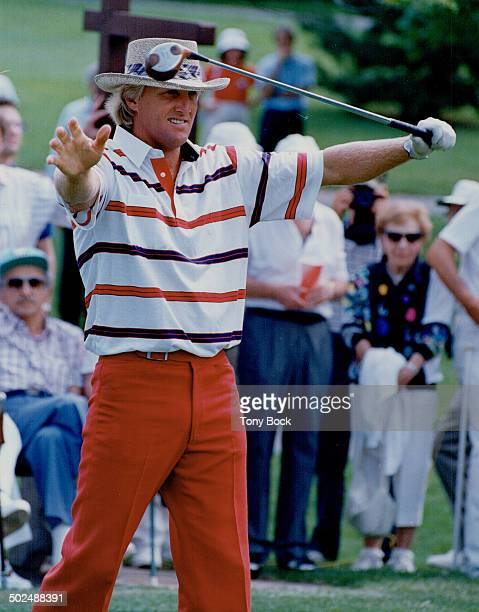 The threat from down under Look out Glen Abbey Here comes the Great White Shark Australian ace Greg Norman one of golf's more animated players...
