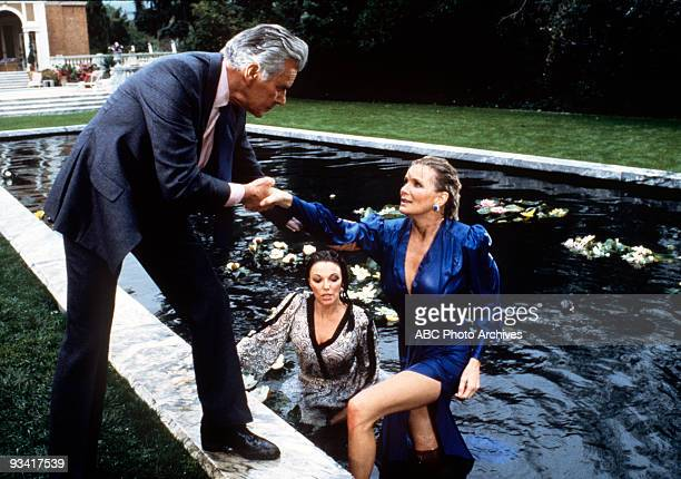 DYNASTY 'The Threat' Season Three 4/13/83 Blake criticized Krystle and Alexis after he pulled them out of the Carrington lily pond Later a humiliated...