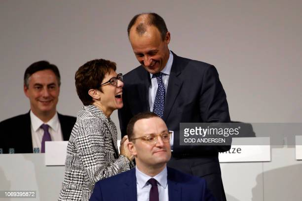 The three candidates for the Christian Democratic Union party's leadership corporate lawyer and former CDU parliamentary group leader Friedrich Merz...