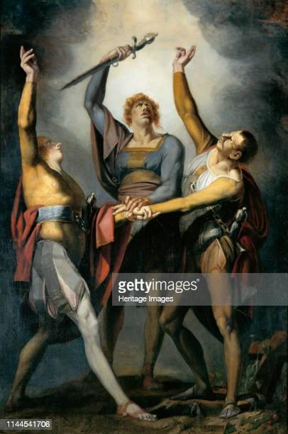The three confederates in the oath on the Rütli 17791781 Found in the Collection of Kunsthaus Zürich Artist Füssli Johann Heinrich