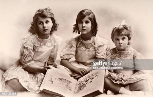 The three daughters of The Prince and Princess Nicholas of Greece left to right Princess Olga who later married Prince Paul of Yugoslavia Princess...