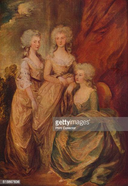 Charlotte Princess Royal Augusta and Elizabeth The future King George IV's commission to depict his three eldest sisters Painting held at The Royal...
