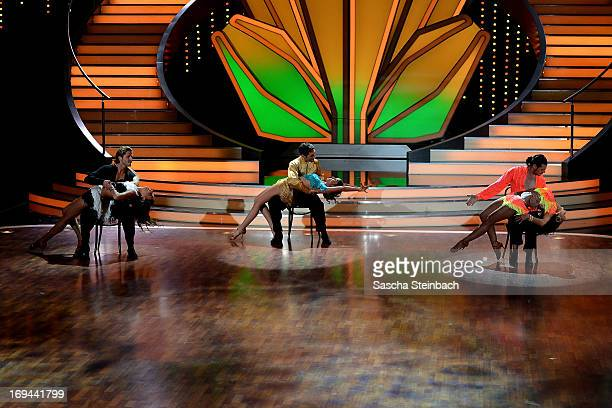 The three final couples attend the Semi Finals of 'Let's Dance' at Coloneum on May 24 2013 in Cologne Germany