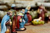 the three kings adoring the Child Jesus