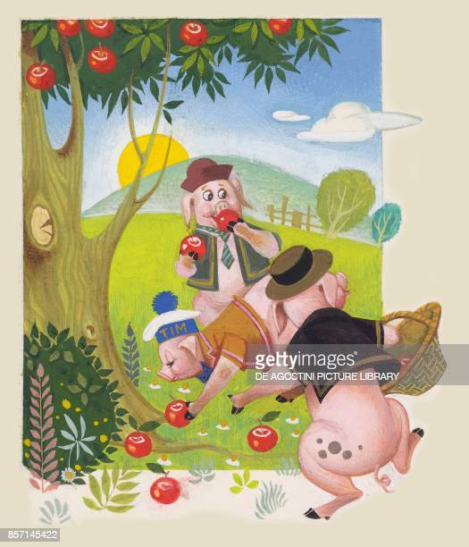 The Three Little Pigs drawing