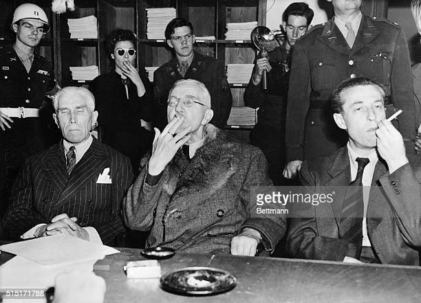 The three men who were acquitted of war crimes by the Military Tribunal which sentenced some of their former comrades to prison and some to the...