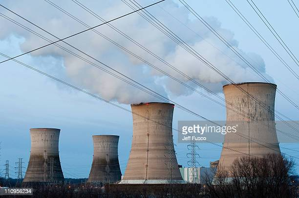 The Three Mile Island Nuclear Plant is seen in the early morning hours March 28 2011 in Middletown Pennsylvania