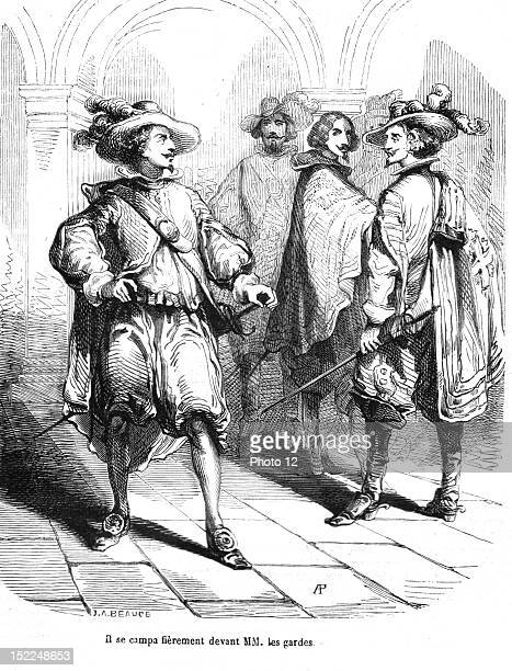 The Three Musketeers D'Artagnan Engraving 19th century Alexandre Dumas Private collection