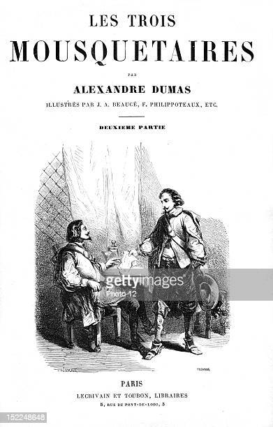 The Three Musketeers Flyleaf Engraving 19th century Alexandre Dumas Private collection