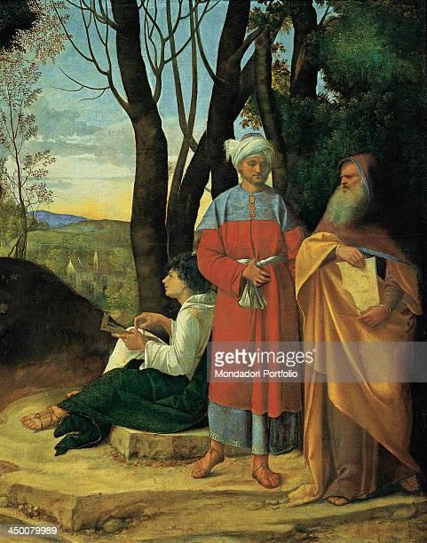 The Three Philosophers by Giorgio da Castelfranco known as Giorgione 1507 1510 16th Century oil on canvas 124 x 144 cm