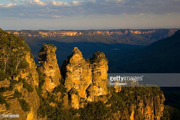 The Three Sisters from Echo Point Blue Mountains National Park New South Wales Australia