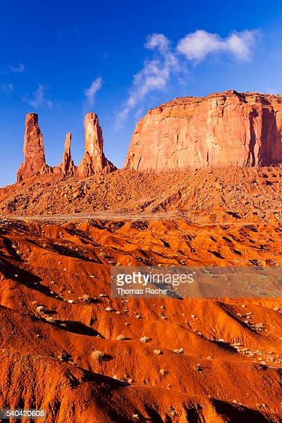 The three sisters in Monument Valley