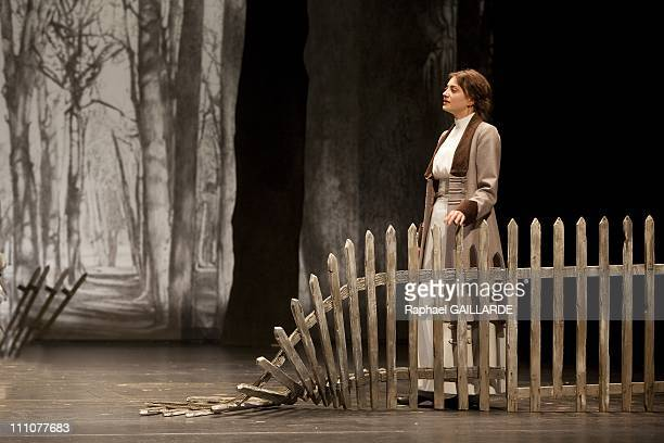 The Three Sisters of Anton Chekhov staged by Alain Francon in France on May 19th 2010 Florence Viala Coraly Zahonero Elsa Poivre Guillaume Gallienne...