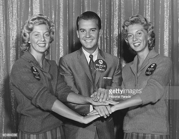 The three volunteers who will lead the Teen Age Program or TAP for the 1959 March of Dimes New York City They are American television show host Dick...