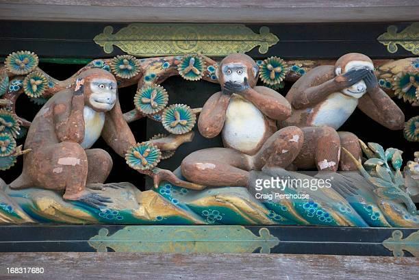 The Three Wise Monkeys at Tosho-gu Shrine