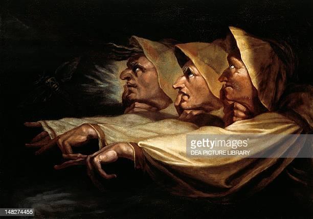 The three witches by Johann Heinrich Fussli 65x91 cm Zürich Kunsthaus