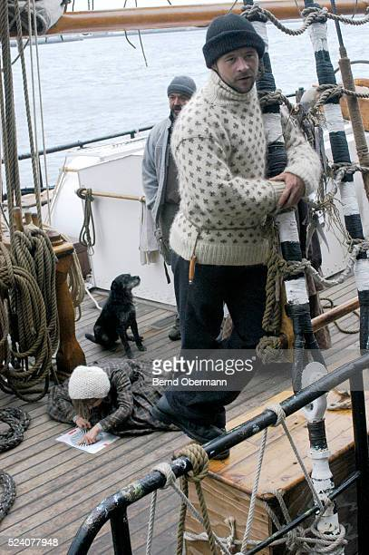 The three-masted vessel Bremen, arrives at Pier 17 at South Street Seaport in New York, on December 23, 2004. Over 40 men and women set sail on their...