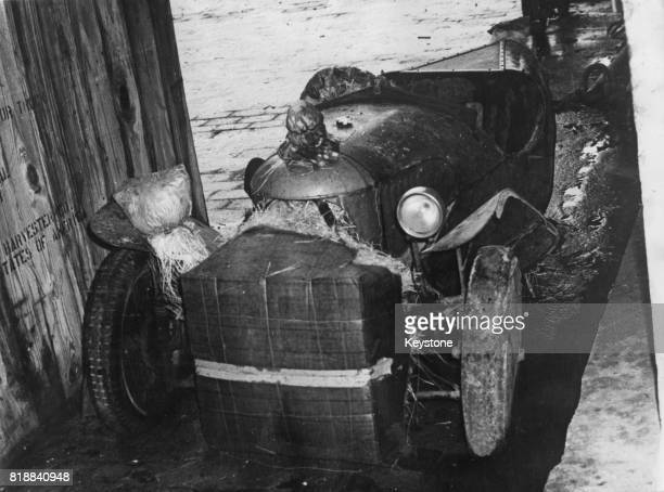 The threewheel Morgan driven by British military officer T E Lawrence during World War I at Beirut Harbour Lebanon January 1967 It was located in the...