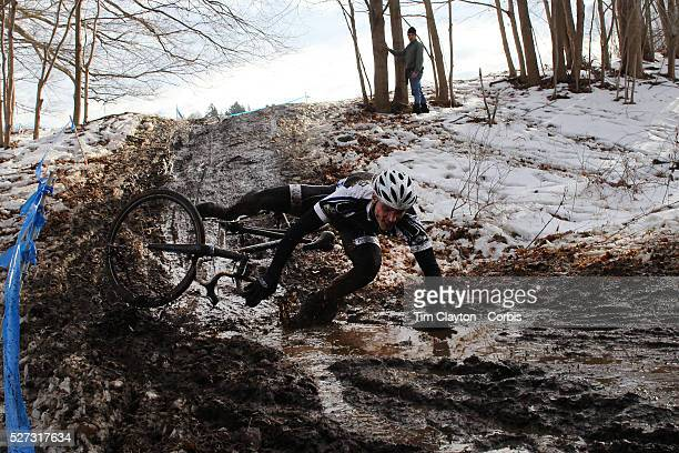 The thrills and spills of the Newtown CX Cyclocross Event as competitors navigate a slippery slope of mud and melting snow The event was organized by...
