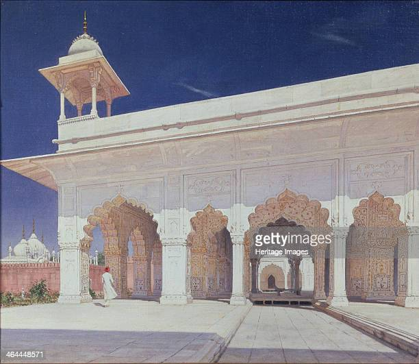 The throne hall of the Mughal Emperors in the Delhi Fort 1875 Found in the collection of the State Tretyakov Gallery Moscow