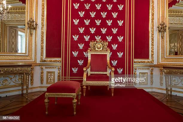 The Throne room at the Interior of the Royal Castle in Warsaw on August 8 2016 The Castleis a baroqueneoclassical palace located in the old part of...