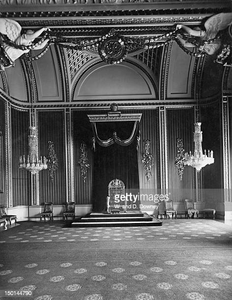 The Throne Room in Buckingham Palace London circa 1910