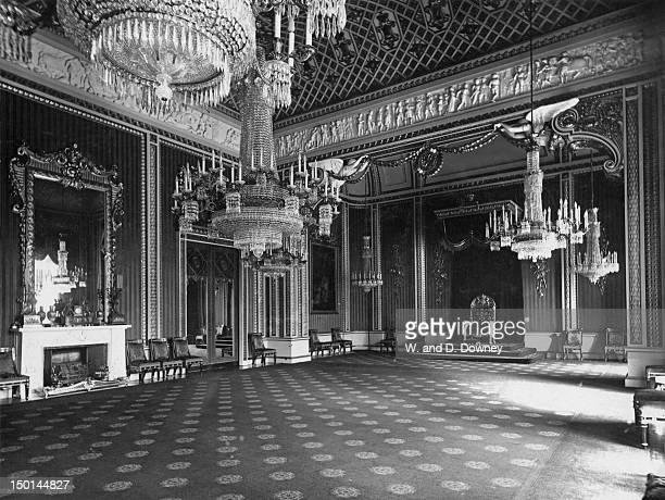 The Throne Room in Buckingham Palace London circa 1910