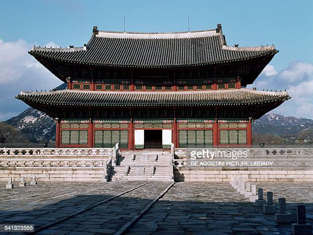 The throne room in the Gyeongbokgung palace Seoul South Korea 14th16th century