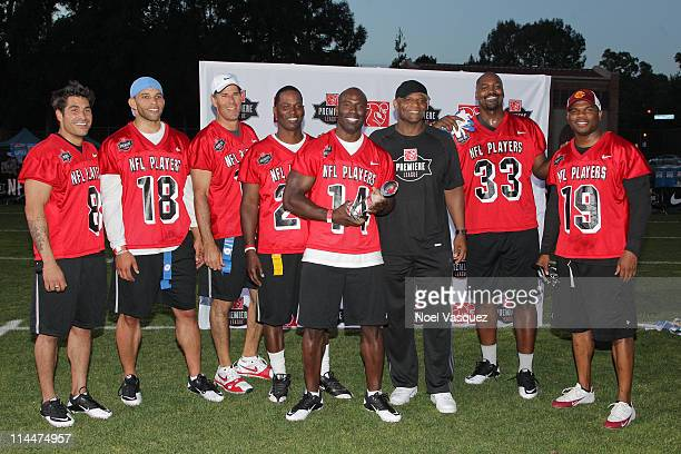 The Throwbacks attend the the NFL PLAYERS Premiere League Flag Football Game at UCLA on May 20 2011 in Los Angeles California