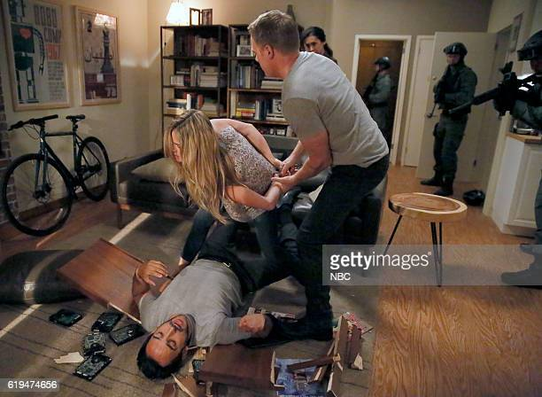THE BLACKLIST 'The Thrushes #53' Episode 406 Pictured Amir Arison as Aram Mojtabai Annie Heise as Elise Diego Klattenhoff as Donald Ressler