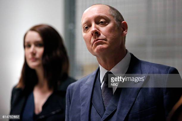 THE BLACKLIST 'The Thrushes #53' Episode 406 Pictured Megan Boone as Elizabeth Keen James Spader as Raymond 'Red' Reddington