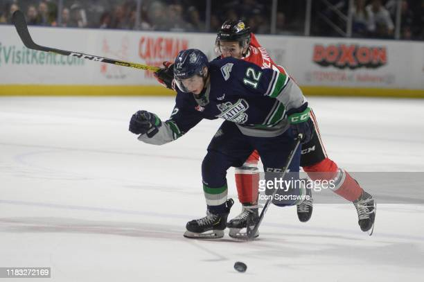 The Thunderbirds right wing Henrik Rybinski skate down the ice during an WHL game between the Seattle Thunderbirds and Portland Winterhawks on...