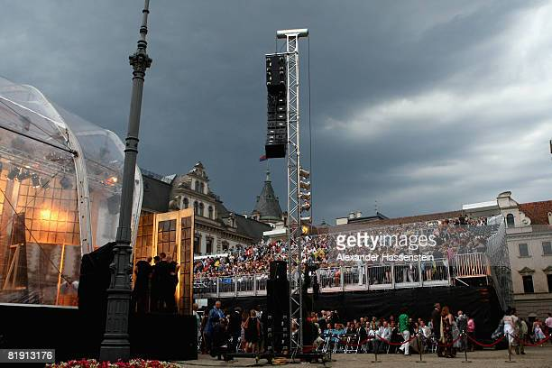 The Thurn und Taxis castle is seen during the opera 'Carmen' at the Thurn und Taxis castle festival on July 11 in Regensburg Germany