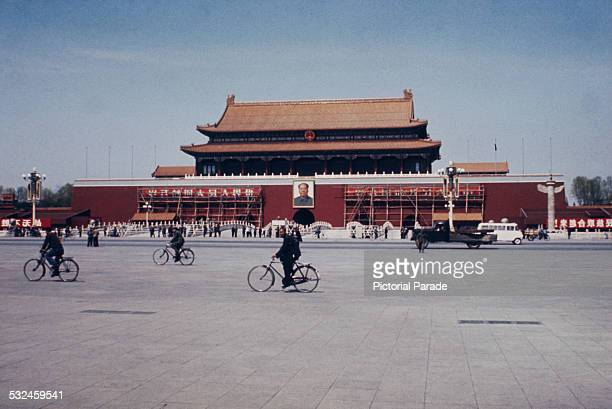 The Tiananmen at the north end of Tiananmen Square Beijing China circa 1965 It is the gateway to the Imperial City which contains the Forbidden City...