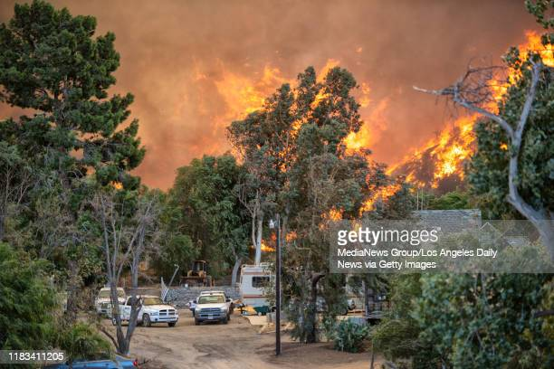 The Tick Fire burns in Canyon Country Thursday October 24 2019