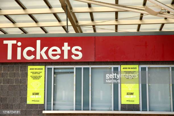 The ticket booth at ANZ Stadium is seen on April 04 2020 in Sydney Australia Sport and events held at the stadium continue to be postponed and...