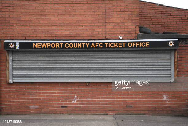 The ticket office at Rodney Parade home stadium of Newport County Football Club and Newport Gwent Dragons Rugby Union Club is pictured at Rodney...