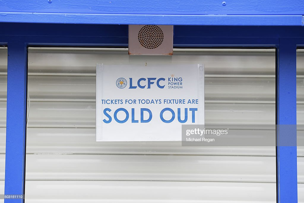 The ticket office is closed prior to the Barclays Premier League match between Leicester City and Bournemouth at The King Power Stadium on January 2, 2016 in Leicester, England.